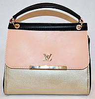 Женская маленькая сумочка Louis Vuitton 23*20 золотая с персиковым