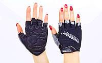 Вело-перчатки текстильные MADBIKE Черный, L