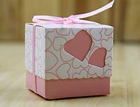 Бонбоньерка розовая 5х5см