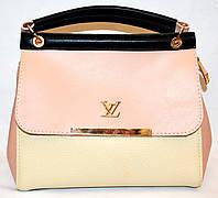 Женская маленькая сумочка Louis Vuitton 23*20 бежевая с персиковым