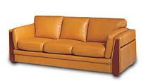 """Мягкий трехместный диван в коже """"SUAVE"""" (Суаве). (222 см)"""