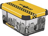 Декоративная коробка с крышкой Нью-Йорк STOCKHOLM L Curver 197125