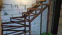 Поворотный каркас лестницы без площадки