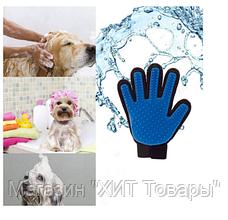Перчатка для чистки животных,Перчатка для вычесывания шерсти животных True Touch!Акция, фото 2