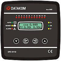 DATAKOM DFC-0112 Контроллер компенсации реактивной мощности., 144x144mm,12 шагов + SVC
