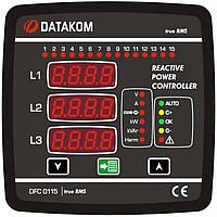 DATAKOM DFC-0115 Контроллер компенсации реактивной мощности (12 шагов), 144x144mm