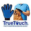 Перчатка для чистки животных,Перчатка для вычесывания шерсти животных True Touch, фото 4