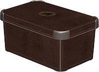 Декоративная коробка с крышкой кожа STOCKHOLM L Curver 172635