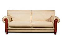"""Мягкий 3х местный диван в коже  """"LANCELOT"""" (Ланселот). (230 см)"""