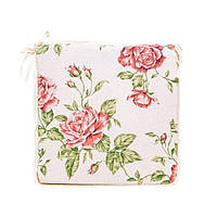 Подушка на стул с ушками Прованс 40х40 Large pink Rose