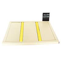 Реечный алюминиевый потолок Бард ППР- 083 бежевый - золото комплект 160 см х 165 см