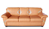 """Мягкий кожаный диван """"LINDA"""" (Линда). (220 см)"""