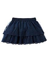 Юбка кружевная синяя Carter's