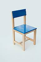 Стульчик детский деревянный голубой (28 см.)