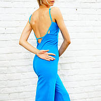 «Cosmic Rays» синий женский комбинезон для йоги и фитнеса