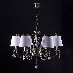 Люстра на 6 лампочек для высоких потолков (античная бронза). P3-4612/6B/AB