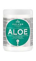 Kallos зволожуюча маска з АЛОЕ для відновлення блиску волосся з екстрактом алое віра, 1000 мл