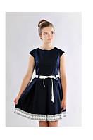 Красивое школьное платье с коротким рукавом
