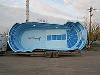 """Бассейн """"Лидер 2"""" (8,63м х 3,33м х 1,1/1,6м)"""