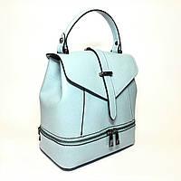 Сумка-рюкзак, кожа, Италия, blue, фото 1