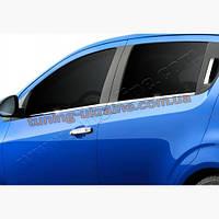 Молдинги стекол Omsa на Chevrolet Aveo 2011-2015 седан