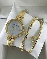 Женские часы Аnne Klein (Yellow) c браслетами