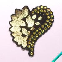 Термонашивка, наклейка на одежду Сердце [35 шт. на листе]