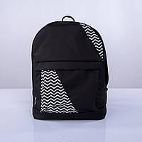Черный рюкзак с зигзагами mini Р15 TWINS STORE