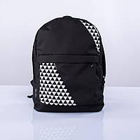 Черный рюкзак с треугольниками mini Р4 TWINS STORE
