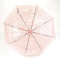 Интересный универсальный механический зонтик трость, купол с плотной клеенки PAOLO ROSI art. 024 (101412)