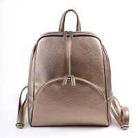 Женский золотистый рюкзак М134-69, фото 1