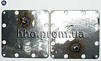 Боковые пластины (пара) электролизера 127х127х3мм AISI304, фото 1