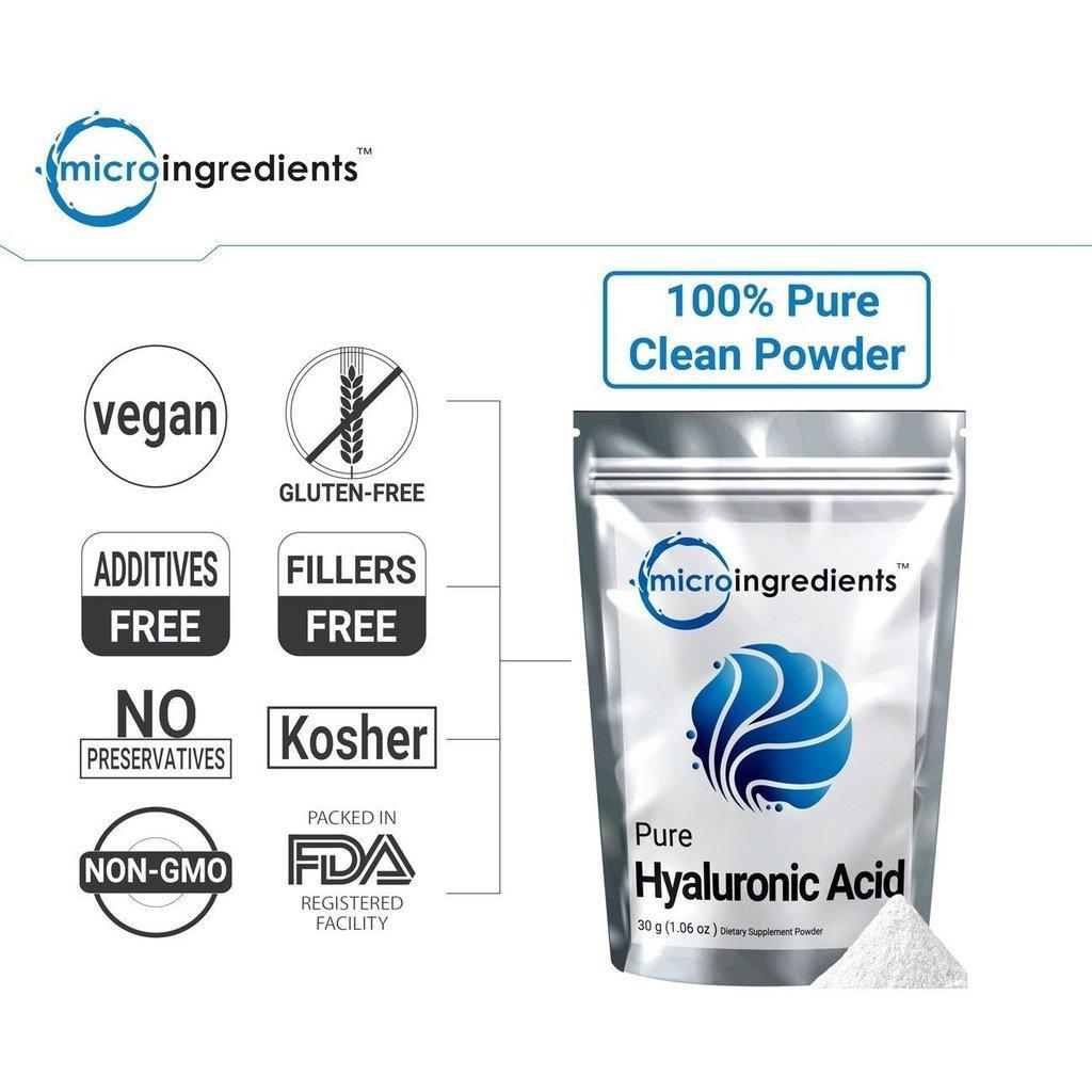 Гиалуроновая кислота Micro Ingredients, высокомолекулярный порошок, фото 1