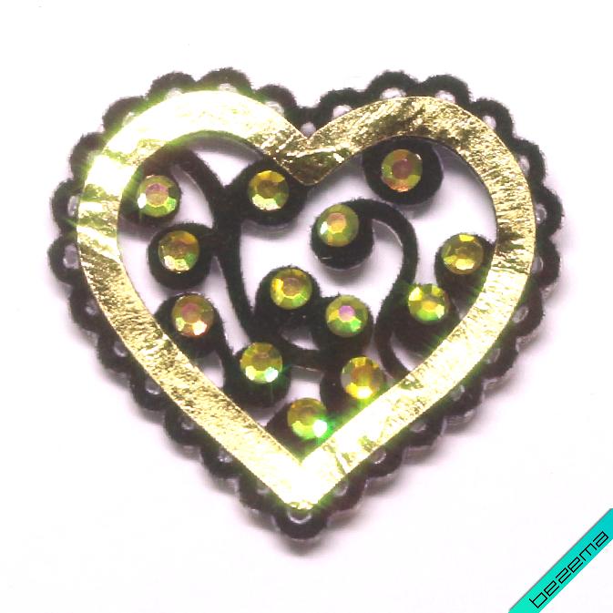 Термошевроны на челочно-шкарпеткові вироби Серце [Свій розмір і матеріали в асортименті]