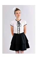 Черная юбка для школы с воланами