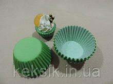 Тарталетки mini цветные 100шт зеленые