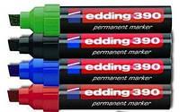 Маркер заправляемый краской перманентный edding 390 набор всех цветов 4 шт