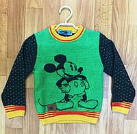 Джемпер детский с Микки Маусом цвет зеленый Турция