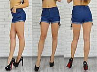 Женские джинсовые шорты со шнурком