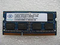 Память SoDIMM Nanya DDR3-1333 4GB 2Rx8 PC3-10600S-11-10-F2
