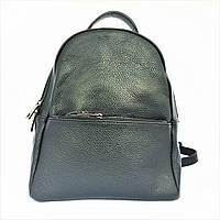 Рюкзак, кожа, Италия, чёрный, фото 1