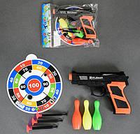 Пистолет с присосками с мишенью для детской игры