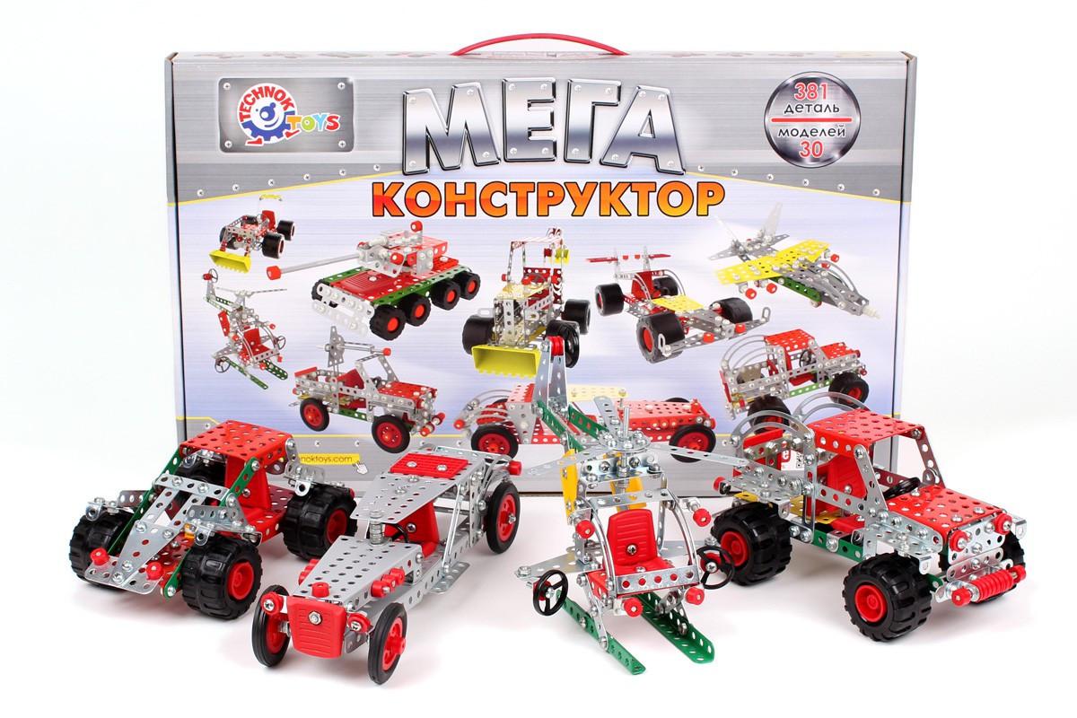 "Конструктор метал.""МЕГА-конструктор"" 381 деталь (карт. кор) 30-48-5 см арт. 4364"