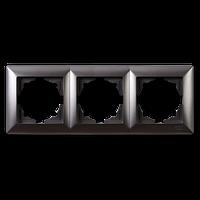 Visage Дымчатый Рамка тройная горизонтальная