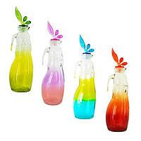 Бутылка для масла стеклянная цветная, SWAN, 1 л, TM Miradan