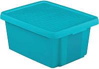 Синяя коробка с крышкой на 20 л ESSENTIALS Curver 225361