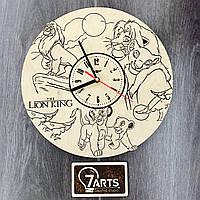 Детские настенные часы из дерева «Король Лев»