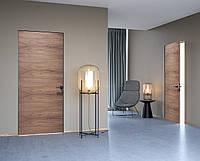Межкомнатная дверь ELDOOR standart Модель Wood (натуральный шпон) Орех американский 0301 в проем 2100х750