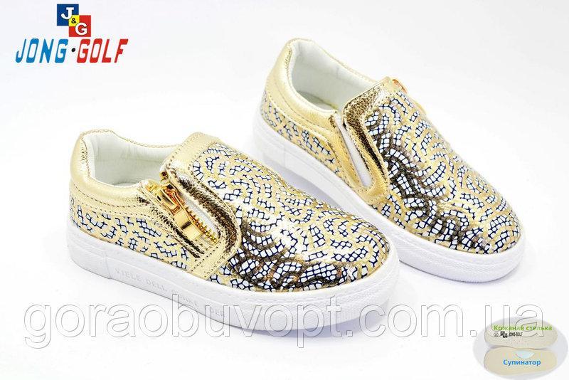 Туфли-слипоны  28р-17.8см JG золото