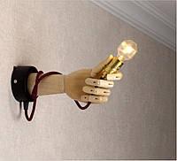 Настенный светильник из деревянной руки, фото 1